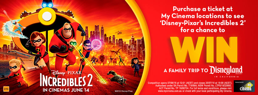Incredibles 2 My Cinema promotion