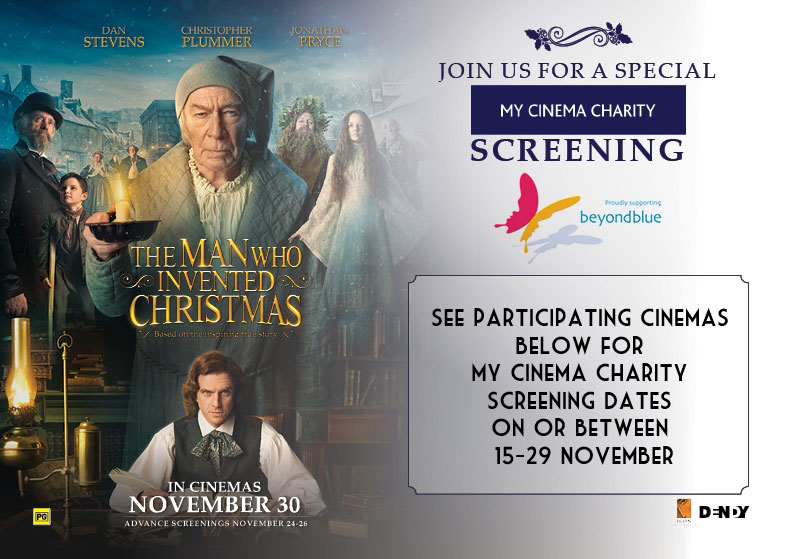 the man who invented christmas my cinema charity screenings