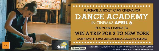 dance academy my cinema promotion