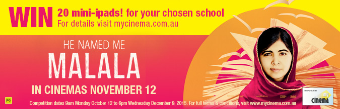 malala my cinema promotion